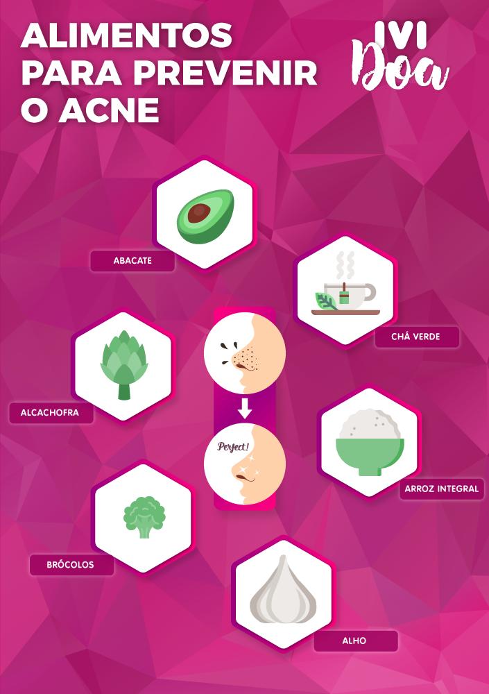alimentos para prevenir o acne