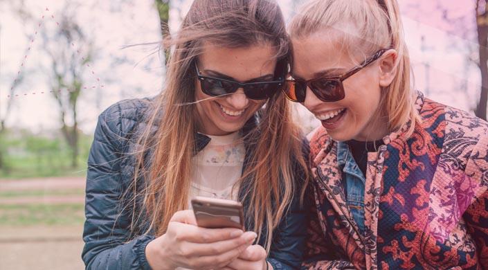 Gabardinas match meninas celular